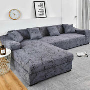 Sofa Cover Geometric Couch Pets Corner L Shaped Chaise Longue Sofa Slipcover 1pc