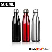 500ml 17oz Stainless Steel Vacuum Insulated Water Bottle Double Wall Metal Flask