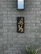 Modern House Numbers Sign Wood Engraved Address Plaque