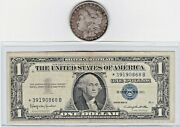1889-o 1 Morgan Silver Dollar And 1957b 1 Silver Certificate Star Note Lot