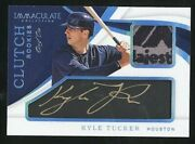 2019 Immaculate Clutch Rookies Auto/ Dual Relic Platinum Kyle Tucker, S/n 1/1