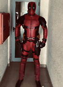 Deadpool Pro Movie Costume With Shell Mask Accessories Gloves Shinguards