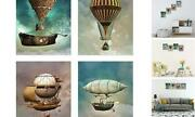 Steampunk Airship Fantasy Bar Abstract Artwork Pictures For 12x16inch30x40cm