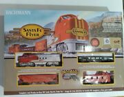Bachmann Ho Santa Fe Flyer With Ez Track - 00647 Untested For Parts