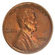 1955 Ddo Lincoln Wheat Cent Double Die Obverse Uncirculated Ac290
