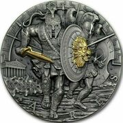 2017 Niue 2 Silver Coin ✪ God Of War Ares ✪ Gold Ultra High Relief ◢trusted◣
