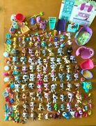 Lot Of Littlest Pet Shop 100+ Pets Plus Accessories And Playset
