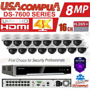 Hikvision Ip Security System Kit 16 Ch 16 Poe 16 Cameras 4tb Wd 4mp Poe H,265+
