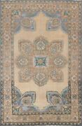 Antique Geometric Traditional Oriental Area Rug Wool Hand-knotted 7x10 Ft Carpet