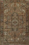 Vintage Geometric Traditional Oriental Area Rug Hand-knotted Wool 8x11 Ft Carpet