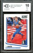 2018-19 Chronicles Score 681 Luka Doncic Rookie Card Bgs Bccg 10 Mint+