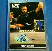 Herb Dean 1st Issued Debut Autograph 2009 Topps Ufc Round 1 Rookie