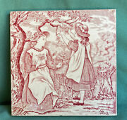 Antique Josiah Wedgwood And Sons Etruria Month Tile May Victorian Wedgewood Trivet