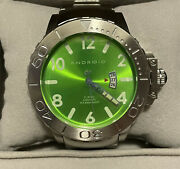 Android Menandrsquos Diving Watch Ad458 Stainless Steel Miyota 8215 Automatic Movement
