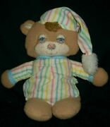 As Long One Point Teddy Antique 16 Inches Vintage 1986 Fisher Price 1405 Rattle