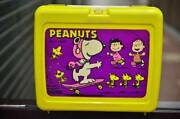 Vintage Snoopy Thermos Lunch Box Made In Usa