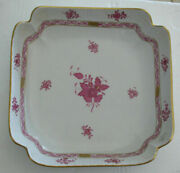 Rare Helend Vintage Herend Gorgeous Hand Paint Big Square Bowl Pattern Chinese