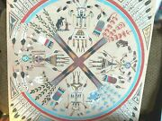 Vint Extraordinary Navajo American Indian 4 Directions Sand Painting. Signed.