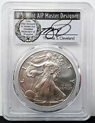 2018-w Burnished Silver Eagle Pcgs Sp70 1 Coin Fdoi Signed By T.cleveland Fh
