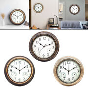 Non Ticking Wall Clock With Temperature And Humidity Display Clocks Kitchen