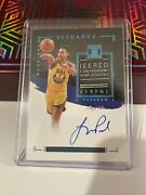 2016-17 Panini Impeccable Jordan Poole Patch Auto One Of One 1/1 On Crad