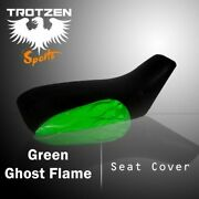 Honda Trx200 1990-1998 Green Ghost Flame Atv Seat Cover Pht15414 Eby7424