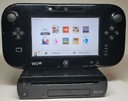 Nintendo Wii U Deluxe 32gb Console Gamepad Cords With Smash Bros. Works Great