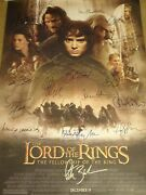 Lord Of The Rings Lotr Fellowship Of The Ring Signed Movie Poster 16 Sigs Coa