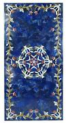 5'x3' Marble Table Top Center Dining Coffee Inlay Blue Lapis Antique Pietra Dura