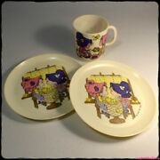 Country Cousins Vintage 1970s Childrens Plastic Teaset Suci Italy [gotd]