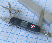Victorinox Voyager Swiss Army Knife With Digital Clock Onyx Translucent Scales