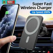 15w Car Mount Wireless Fast Charger Magnetic Safe For Iphone 12 Pro Max Mini Usa
