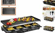 Raclette Table Grill, Electric Korean Bbq Grill Indoor Cheese Raclette For 8