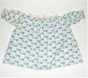 Vintage 1950and039s-60and039s Georgene 19 Raggedy Ann Dress Pink And Blue Flowers Very Nice