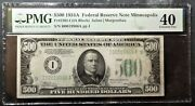 500 1934a Federal Reserve Note Minneapolis Fr 2202-i Pmg Ef40