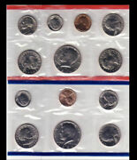 1981 P And D Mint Set 13 Brilliant Uncirculated Us Coins As Issued W/envelope