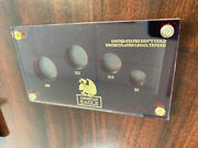 50-25-10-5 Gold American Eagle 4-coin Set Red Plastic Holder/display Case
