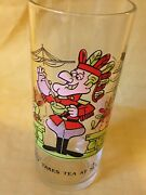 Vintage Dudley Do-right Dudley Takes Tea At Sea Ward Cartoon Arby's Glass 5
