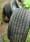 Set Of 4 Super Single Used Aluminum Wheels And Tires 445/50r22.5