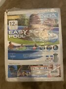 New Intex 12x30 12 Ft X 30 In Easy Set Above Ground Pool With Filter Pump 12x30