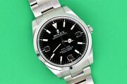 2011 Discontinued Rolex Explorer 39mm Black Mk1 Dial Stainless Steel 214270
