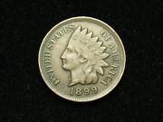 Summer Sale Vf-xf 1899 Indian Head Cent Penny W/ Diamonds And Full Liberty 178s