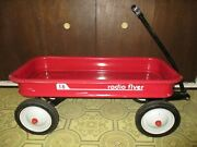Vintage Radio Flyer 18 Red Metal Wagon Great Shape Only Used Inside 1970and039s