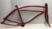 Vintage 1950s Jc Higgins 20andrdquo Boys Bicycle Frame And Fork Balloon Tire