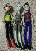 Monster High Boy Male Doll Lot Of 3 W Clothes And Accessories Gil Deuce Slo Mo