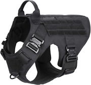 Tactical Dog Harness With 4x Metal Buckle Dog Molle Vest With Handle Large