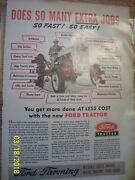 Vintage Ford Farm Advertising - Ford Jubilee Tractor - 1953