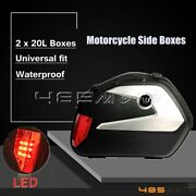 2x 20l Side Boxes Tail Pannier Luggage Box For Bmw R1200gs Harley Touring Glide