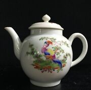 Worcester Teapot With Exotic Birds, C. 1765