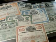 Vintage Railroad And Mining Company Stock Certificates 1943 - 1969